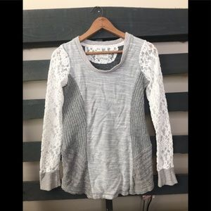 Anthropologie Saturday Sunday lace sweater xs